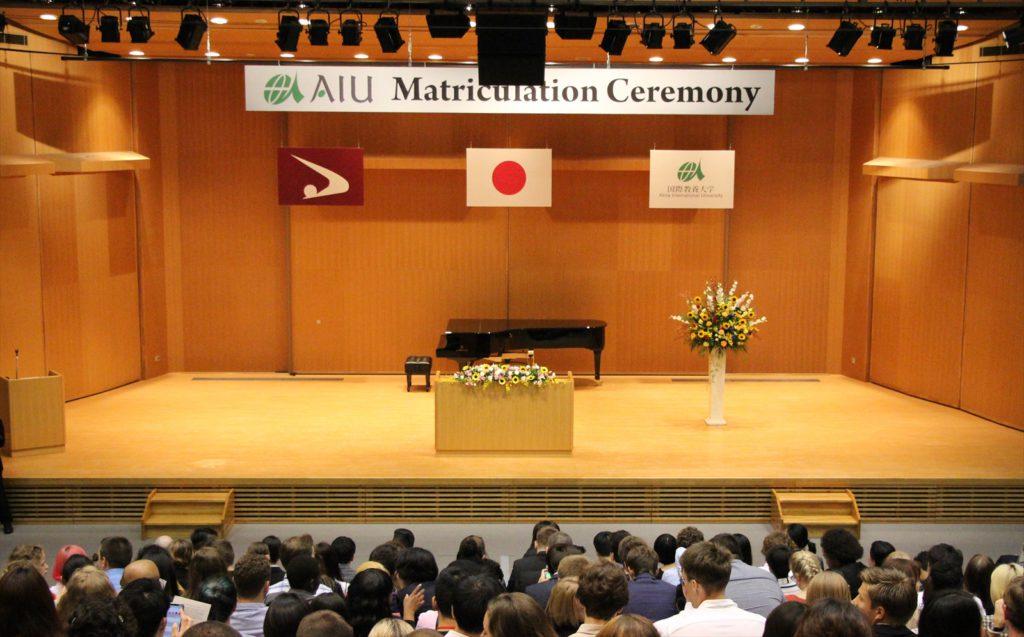 入学式会場の写真
