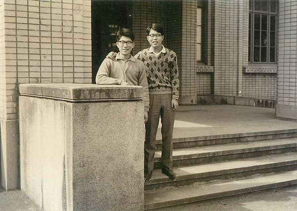 Picture of President Suzuki as a university student