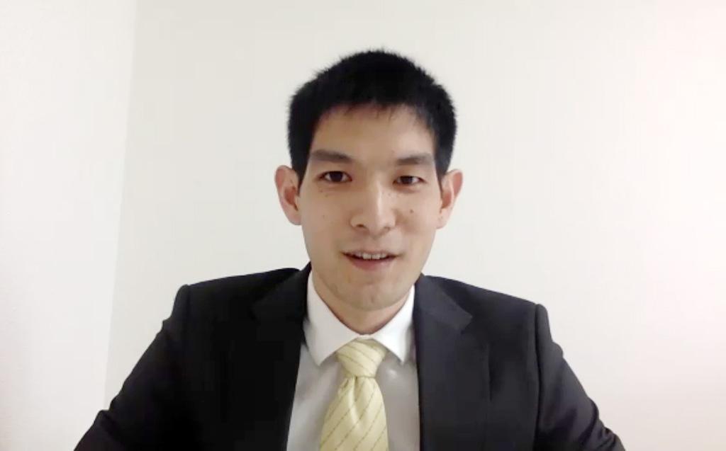大学院生代表 島本さんの写真