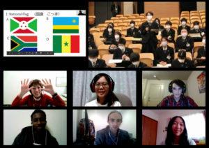 日本語を履修している留学生との交流の様子